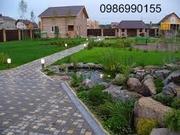 Ландшафтный  дизайн,  Озеленение,  Декоративные пруды,  Автополив